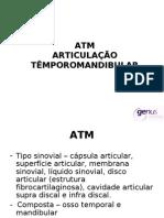 ATM articulção temporo mandibular