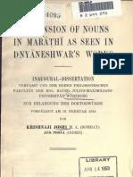 Joshi_Declension of nouns in Marathi as seen in Dnyaneshwar's works