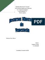 Recursos Minerales de Venezuela
