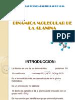 Dinámica molecular de la alanina