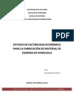 Estudio de Mercado de una empresa de esgrima en Venezuela