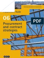 Achieving Excellence in Construction - Procurement and Contract Strategies