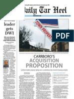 The Daily Tar Heel for January 16, 2013