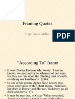 How to Frame Quotes