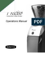 Baratza-PRECISO-Operations-Manual