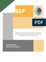 Lineamientos para la acreditación, promoción ycertificación anticipada de alumnos con aptitudessobresalientes en educación básica