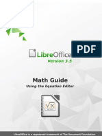 Libre Office 3.5 Math Guide
