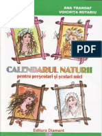 Calendarul naturii pentru prescolari si scolari mici