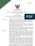 Keputusan Mentri Dalam Negri No. 25 Tahun 2012