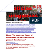 Noticias Uruguayas miércoles 16 de enero del 2013