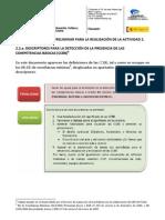 Descriptores para la detección de las CCBB