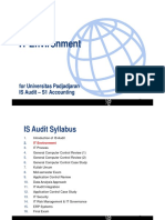 IT audit - IT environment