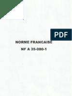 NF A 35-080-1