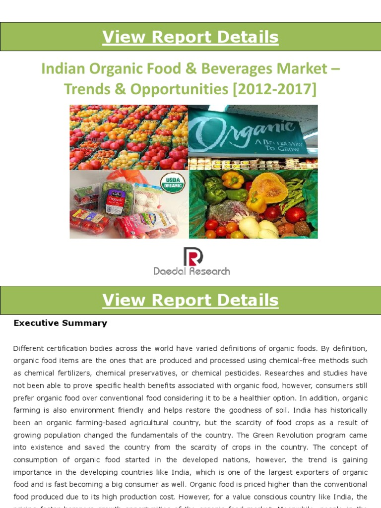 indian organic food & beverages market_trends & opportunities (2012