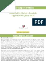 Indian Spirits Market –Trends & Opportunities [2012-2017]