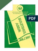 Buletinul ABRM Nr 2007-2