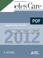 Estandares para la atencion medica de la diabetes
