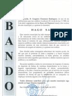Bando Ayuntamiento de San Andrés del Rabanedo