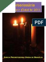 Devocionário de Advento e Natal 2011