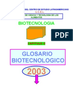 Glosario Biotecnológico