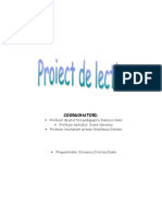 Proiect de lectie (Geografie)