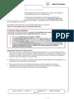 1260 HPLC Site Preparation Checklist