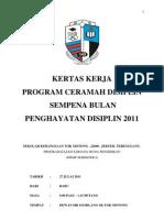 kertas kerja program ceramah disiplin