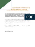 Bankada suspende a congresista Bardalez
