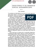 DOMINICO ZIPOLI Y EL BARROCO MUSICAL SUDAMERICANO - PORTALGUARANI