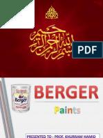 market analysis on berger pints