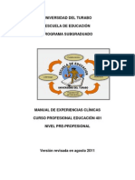 MANUAL DE EXPERIENCIAS CLINICAS - EDUC.