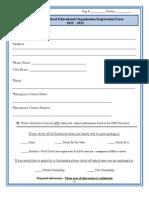 Heritage Homeschool Educational Organization Registration Form