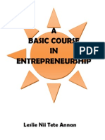 A Basic Course in Entrepreneurship