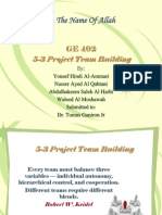 Report in Project Team Building