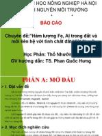 Hàm lượng Fe, Al trong đất và mối liên hệ với tính chất đất Việt Nam