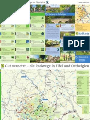 Eifel Karte Pdf.Radwege Karte Eifel 2013 übersicht Transport Leisure