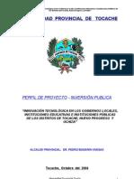 PERFIL DE CONECTIVIDAD DE LA PROVINCIA DE TOCACHE