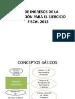 Ley de Ingresos de la Federación 2013