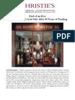 Ross Hamilton's Last Sale - Christie's South Kensington, 27 February 2013