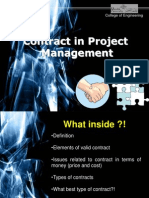 Contract in Project Management