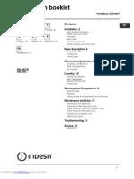 Manual secadora Indesit ISL65C ISL66CX (DRYER INSTRUCTION BOOKLET)