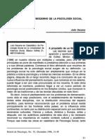 Seoane 1996 El Escenario Postmoderno de La Psicologia Social