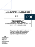 2010 ACEA Oil Sequences