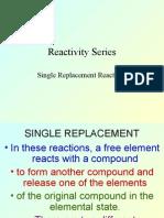 Reactivity Series 8-2