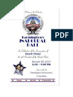 Farmington Inaugural Ball 2013 Event Program