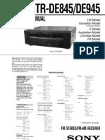 Sony STRDE945 Service Manual