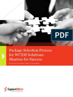 Package Selection Process for WCXM Solutions