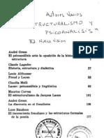 """André Green, """"El psicoanálisis ante la oposición de la historia y la estructura"""""""