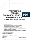 Propuestas para el Plan Andaluz de la Bicicleta en Granada y su área metropolitana