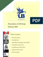 Presentation on UB Group February 2008